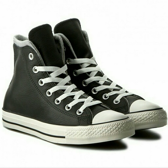 4e63f4025c18b8 Converse Leather High Tops Chucks Black 10.5
